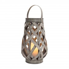 Lampáš s LED sviečkou 16 x 27 cm