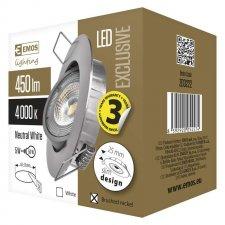 LED bodové svietidlo strieborné Exclusive 5W neutrálna biela