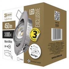 LED bodové svietidlo strieborné Exclusive 5W teplá biela