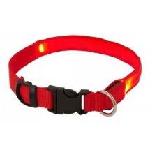 LED obojok: XL Max 68cm – červený