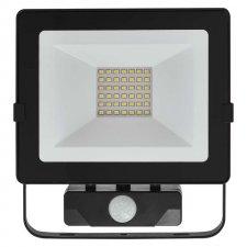 LED reflektor HOBBY SLIM s pohyb.čidlom 30W neutralna biela