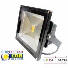 LED REFLEKTOR LEDLUMEN 30W CCD TEPLÁ BIELA