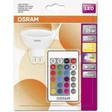 LED RGB žiarovka GU10 OSRAM s ovládačom, 4,5W