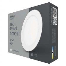 LED stropné vstavané svietidlo kruh 12W IP20 neutrálna biela