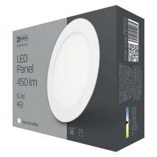 LED stropné vstavané svietidlo kruh 6W IP20 neutrálna biela