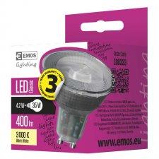 LED žiarovka Classic 4,2W GU10 teplá biela