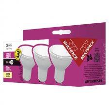 LED žiarovka Classic 4,5W GU10 teplá biela 3ks