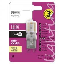 LED žiarovka Classic JC A++ 2,5W G9 teplá biela