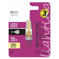 LED žiarovka Classic JC A++ 2W G4 teplá biela