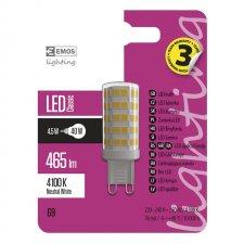 LED žiarovka Classic JC A++ 4,5W G9 neutrálna biela