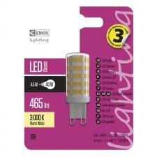 LED žiarovka Classic JC A++ 4,5W G9 teplá biela