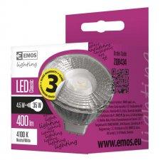 LED žiarovka Classic MR16 4,5W GU5,3 neutrálna biela