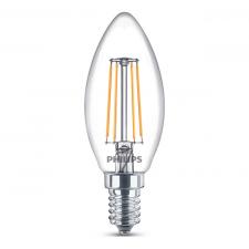 LED žiarovka FILAMENT E14 Philips, 4W Teplá biela