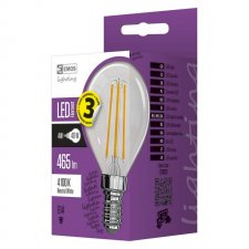 LED žiarovka filament mini globe A++ 4W E14 neutrálna biela
