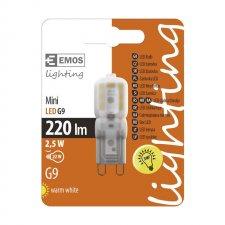 LED žiarovka G9 2,5W teplá biela