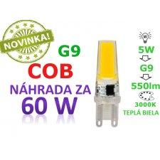 LED ŽIAROVKA G9 COB 5W TEPLÁ BIELA 550LM