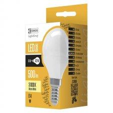 LED žiarovka mini globe 6W E14 teplá biela