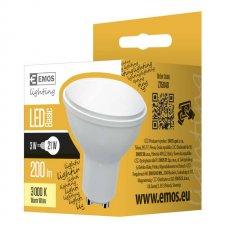 LED žiarovka SPOT 3W GU10 teplá biela