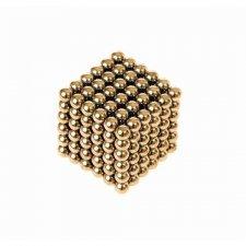 Magnetické guličky NeoCube 3mm - 216ks - zlaté + box