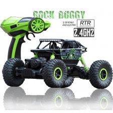 RC auto RC ROCK CRAWLER 1:18 4WD zelený