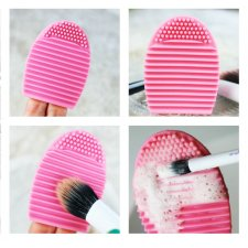 Silikónová podložka na umývanie kozmetických štetcov