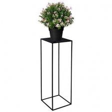 SPRINGOS Kovový stojan na kvety - 60cm - čierny matný