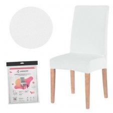 SPRINGOS Návlek na stoličku univerzálny - biely