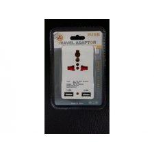 Univerzálny cestovný adaptér 2 USB 1000MA 5V