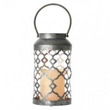 LED dekorácia – lampáš zdobený čierny, 3× AAA, blik.,t.b.