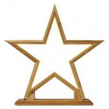 LED dekorácia - hviezda drevená, vnútorná, teplá biela