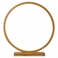 LED dekorácia - kruh drevený, vnútorný, teplá biela