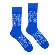 Veselé ponožky Čičman modrý - 43-46