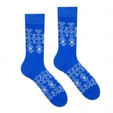 Veselé ponožky Čičman modrý - 35-38
