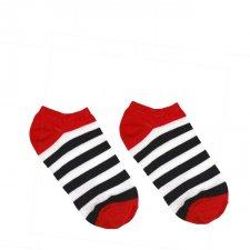 Veselé ponožky Námorník krátky - 35-38