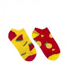 Veselé ponožky Melón a Ananás krátke - 35-38