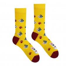 Veselé ponožky Francúzsky buldoček - 43-46