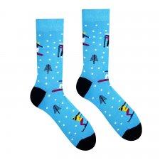 Veselé ponožky Vysoké Tatry - Lyžiar - Detské - 30-34