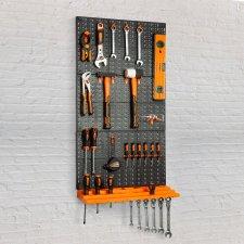 Organizér, držiak náradia na stenu - 3 ks tabúľ , 50 x 33 cm