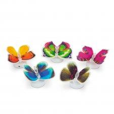 LED motýľ meniaci farby