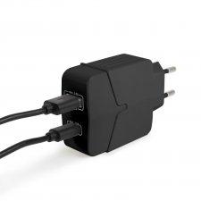 Sieťový adaoter USB + Type-C PD18W s rýchlonabíjaním - čierny