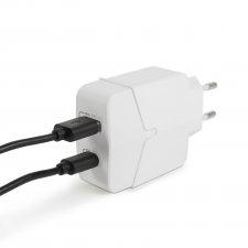 Sieťový adapter USB + Type-C PD18W s rýchlonabíjaním - biela
