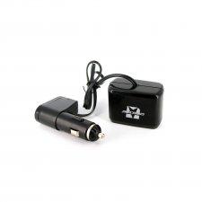Rozbočovač do autozapaľovača 2-itý + USB konektor 1A