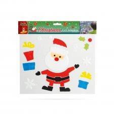 Gelová dekorácia na okno - vianočná - XXL