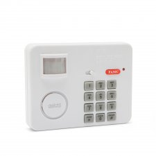 Alarm s pohybovým senzorom s PIN kódovou ochranou