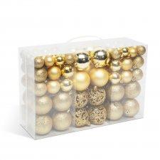 Sada vianočných gulí - 100 ks / balenie - zlaté