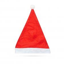 Mikulášska čiapka - filc - červená / biela