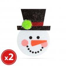 Sada vianočných ozdôb - snehuliak - 2 ks / balenie
