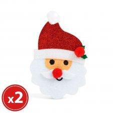 Sada vianočných ozdôb - mikuláš - 2 ks / balenie