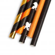 Papierová slamka - Halloween - 197 x 6 mm - 25 ks / balenie