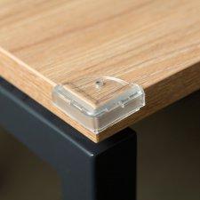 Ochrana na rohy stola - PVC - priehľadná - 4 ks / balenie